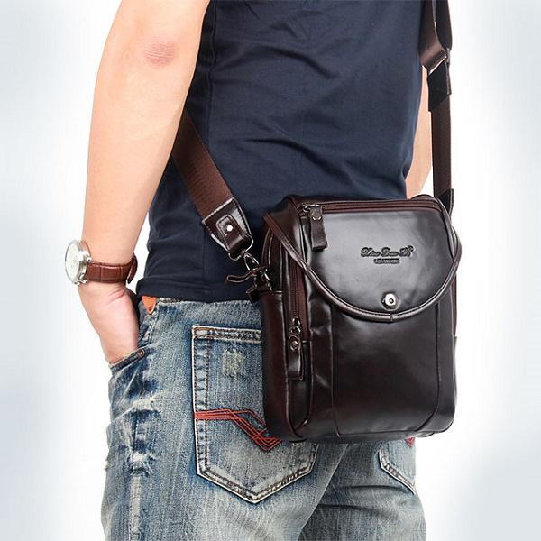 Túi da nam đeo chéo đựng iPad đẹp và thời trang