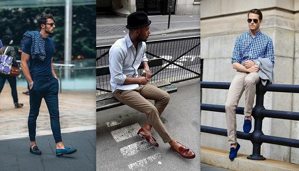 Giày lười có thể phối hợp cùng nhiều style khác nhau.