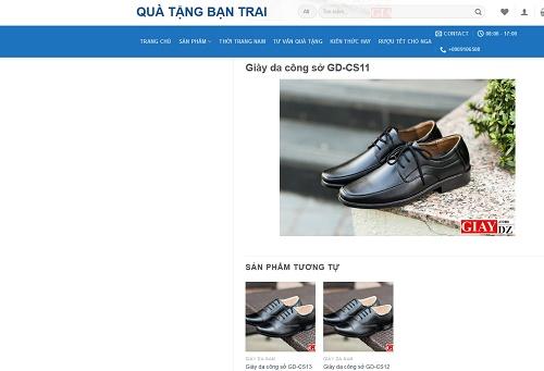 Quatangbantrai.vn là một địa chỉ mua giày da nam uy tín trên thị trường
