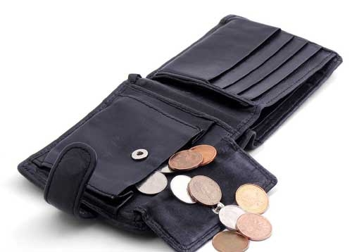 Bạn có thể đặt vài đồng xu trong ví